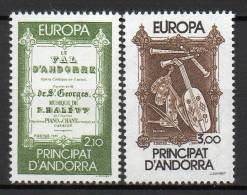 Andorre - 1985 - Yvert N° 339 & 340 **  - Europa - Nuovi