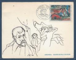 France - Carte Maximum - P. Gauguin - Arearea. - Paris - 1968 - 1960-69