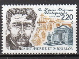 Saint-Pierre Et Miquelon Yvert N° 488 Neuf Docteur Louis THomas Lot 22-7 - St.Pierre & Miquelon