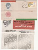 FDC (Madras Postmark) + Information On International Olympic Committee, IOC, Sport Organization, India 1983 - Sonstige