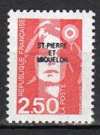 Saint-Pierre Et Miquelon Yvert N° 553 Neuf Marianne Du Bicentenaire Lot 22-58 - St.Pierre & Miquelon