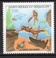 Saint-Pierre Et Miquelon Yvert N° 574 Neuf La Plongée Sous-marine Lot 22-78 - St.Pierre & Miquelon