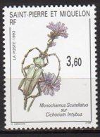 Saint-Pierre Et Miquelon Yvert N° 575 Neuf Insecte Sur Fleur Lot 22-79 - St.Pierre & Miquelon