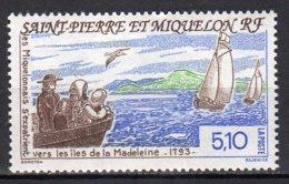 Saint-Pierre Et Miquelon Yvert N° 579 Neuf Bicentenaire De L'exode Des Miquelonnais Vers Les îles Madeleine  Lot 22-83 - St.Pierre & Miquelon