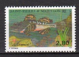 Saint-Pierre Et Miquelon Yvert N° 580 Neuf Poissons (Crapaud) Lot 22-84 - St.Pierre & Miquelon