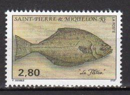 Saint-Pierre Et Miquelon Yvert N° 583 Neuf Poissons ( Flétan ) Lot 22-87 - St.Pierre & Miquelon