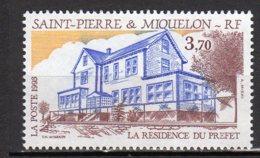 Saint-Pierre Et Miquelon Yvert N° 584 Neuf La Résidence Du Préfet Lot 22-89 - St.Pierre & Miquelon