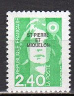 Saint-Pierre Et Miquelon Yvert N° 587 Neuf Marianne Du Bicentenaire Lot 22-90 - St.Pierre & Miquelon