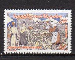 Saint-Pierre Et Miquelon Yvert N° 596 Neuf Le Séchage De La Morue Lot 22-99 - St.Pierre & Miquelon