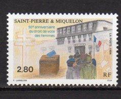 Saint-Pierre Et Miquelon Yvert N° 597 Neuf Droit De Vote Des Femmes Lot 22-100 - St.Pierre & Miquelon