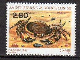 Saint-Pierre Et Miquelon Yvert N° 615 Neuf Faune Marine ( Crabe ) Lot 22-117 - St.Pierre & Miquelon
