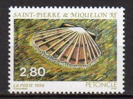 Saint-Pierre Et Miquelon Yvert N° 616 Neuf Faune Marine ( Petoncle ) Lot 22-118 - St.Pierre & Miquelon