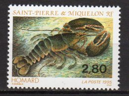Saint-Pierre Et Miquelon Yvert N° 617 Neuf Faune Marine ( Homard ) Lot 22-119 - St.Pierre & Miquelon