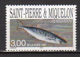 Saint-Pierre Et Miquelon Yvert N° 646 Neuf Poisson ( Le Maquereau ) Lot 22-145 - St.Pierre & Miquelon