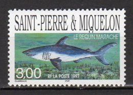 Saint-Pierre Et Miquelon Yvert N° 647 Neuf Poisson ( Le  Requin Marache ) Lot 22-146 - St.Pierre & Miquelon