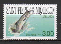 Saint-Pierre Et Miquelon Yvert N° 648 Neuf Poisson ( Le Saumon ) Lot 22-147 - St.Pierre & Miquelon