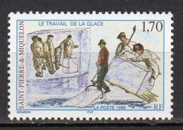 Saint-Pierre Et Miquelon Yvert N° 672 Neuf Le Travail De La Glace Lot 22-171 - Nuovi