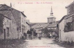 SONCOURT - Rue De La Fontaine Avec MARCHAND EMBULLANT - 2 Scans - France