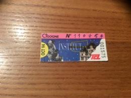 Ticket De Transport (Bus, Métro, Tramway) TCL Abonnement «OCT 94 - CIGOGNE (INSTITUT LUMIERE)» LYON(69) - Autobus