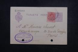 ESPAGNE - Entier Postal + Complément De Villafranca De Oria Pour Paris En 1924  - L 45661 - Interi Postali