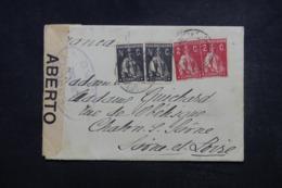 PORTUGAL - Enveloppe Pour La France En 1917 Avec Contrôle Postal - 45664 - 1910-... République