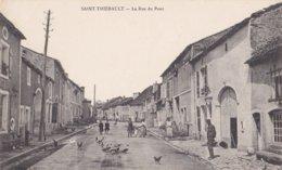 SAINT THIEBAULT - Rue Du Pont Avec COMMERCE Et Animation - 2 Scans - France