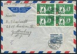 Switzerland Airmail Cover Biel - Guttenberg, USA - Switzerland