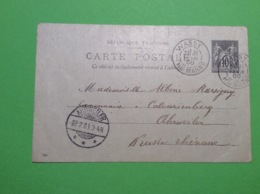 Wassy 52 Haute Marne Carte Postale Précurseur écrite Et Voyagèe En 1900 Envoyée En Allemagne - Wassy