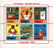 Ref. 142240 * NEW *  - GUYANA . 1982. ADOPTION OF METRIC SYSTEM. ADOPCION DEL SISTEMA METRICO - Guyana (1966-...)