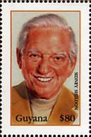 Ref. 80365 * NEW *  - GUYANA . 1999. GRANDES AUTORES DEL SIGLO XX. SIDNEY SHELDON - Guyana (1966-...)