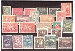 ARMENIE - 1921/22 - Lot De Timbres Neufs ** - Dentelés Et Non Dentelés - Timbres