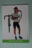 CYCLISME: CYCLISTE : THALITA DE JONG - Ciclismo