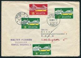 1955 Switzerland Alpinepost Cover Bern Bumpliz - Suisse