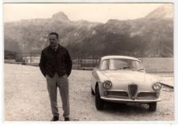 AUTO CAR VOITURE ALFA ROMEO GIULIETTA SPRINT TARGA TORINO - FOTO ORIGINALE ANNI 60 - Coches