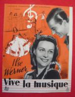 Dossier De Presse De Vive La Musique (1942) - Ilse Werner - Merchandising