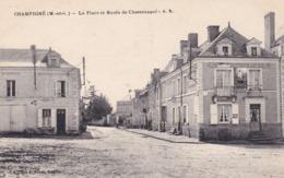 CHAMPIGNE - La Place Et Route De Chateauneuf - Francia