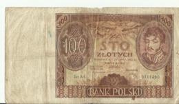 PL 100ZL 1932 SER AA0111490 - Polonia
