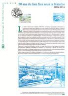 """""""20 ANS DU LIEN FIXE SOUS LA MANCHE - TUNNEL 1994-2014"""" - Premier Jour 06/05/2014 à PARIS - DOP N°21 14 515 - Documents Of Postal Services"""