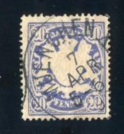 GS 1396 Bavaria 1888 Mi.#57 (o)  (cat. 1.60€) - Bayern