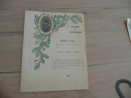 Charleville Ardennes Diplôme De Médaille D'Argent Billuart P.E. Avec Photo Ardennes Courage Et Dévouement - Diplomas Y Calificaciones Escolares