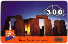 CZECH REP. D-139 Prepaid Go - Landmark, Stonehenge - Used - República Checa