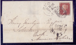Great Britain  PENNY RED 4 Margins SG 8 On Nice Letter June 15 Th 1844 Good Conditions - 1840-1901 (Victoria)