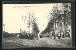 CPA Villeneuve-Saint-Georges, Rue De Paris - Villeneuve Saint Georges