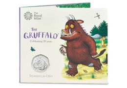 UK 50p Coin Gruffalo & Mouse - Brilliant Uncirculated BU In Royal Mint Pres/Pack - 50 Pence