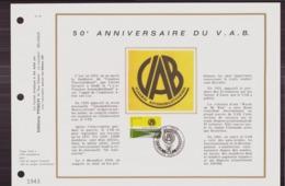 BELGIQUE DOCUMENT DE LA POSTE DU 17 NOVEMBRE 1973 BRUXELLES 50 ° ANNIVERSAIRE DU V.A.B. - Documents Of Postal Services