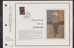BELGIQUE DOCUMENT DE LA POSTE DU 13 OCTOBRE 1973 LIEGE PHILATELIE DE LA JEUNESSE - Documents Of Postal Services
