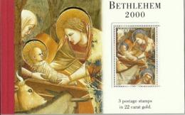 Palestine 2000 - Béthléhem - Carnet Neuf ** - Booklet - Timbres Dorés (or à 22 Carats) - Palestine