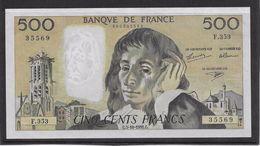 France 500 Francs Pascal - SPL - 3-10-1991 - Fayette 71-48 - 1962-1997 ''Francs''
