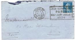 FLIER PARIS 47 JEUX OLYMPIQUES PARIS 1924 SUR PETITE LETTRE - Ete 1924: Paris