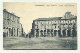ALESSANDRIA - PIAZZA GARIBALDI E CORSO CENTO CANNONI  - VIAGGIATA FP - Alessandria